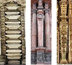 columnas estípite agrupadas