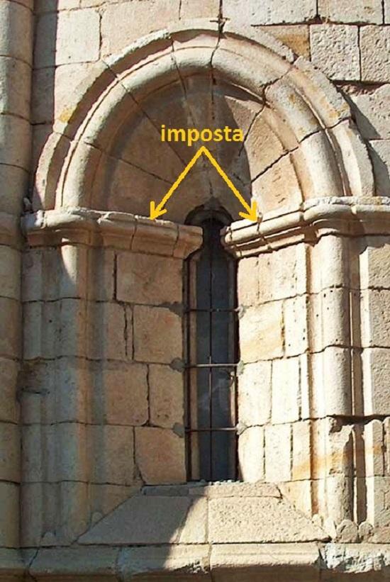 imposta – Glosario ilustrado de arte arquitectónico